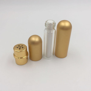 Image 5 - 10 adet/grup 5ml renkli alüminyum nazal solunum aleti yüksek kaliteli beyaz pamuk fitilleri, aromaterapi metal inhaler uçucu yağlar için
