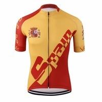 Pro tour españa roja jersey ciclismo/racing ropa ciclismo ropa de la bici/carretera de compresión de impresión digital uv camisas de bicicletas