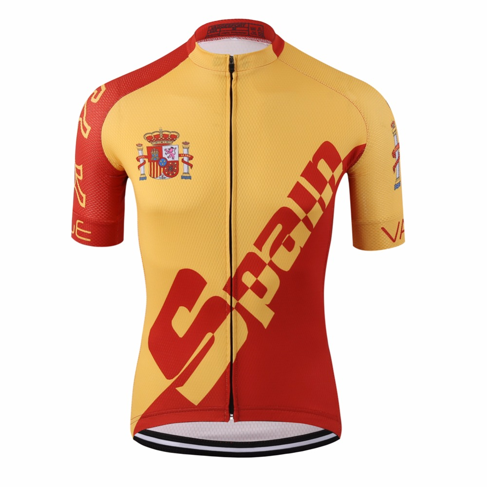 Pro tour spain red cycling jersey/racing ciclismo ropa bike clothing/road compression digital printing uv bicycle shirts
