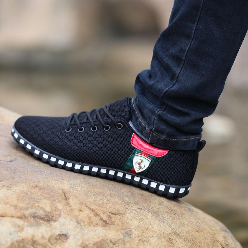 Juyouki Männlichen Casual Schuhe Für Männer Leinwand Schuhe Outdoor Turnschuhe Air Mesh Wohnungen Marke Atmungsaktive Ferrary Schuhe zapatos hombre