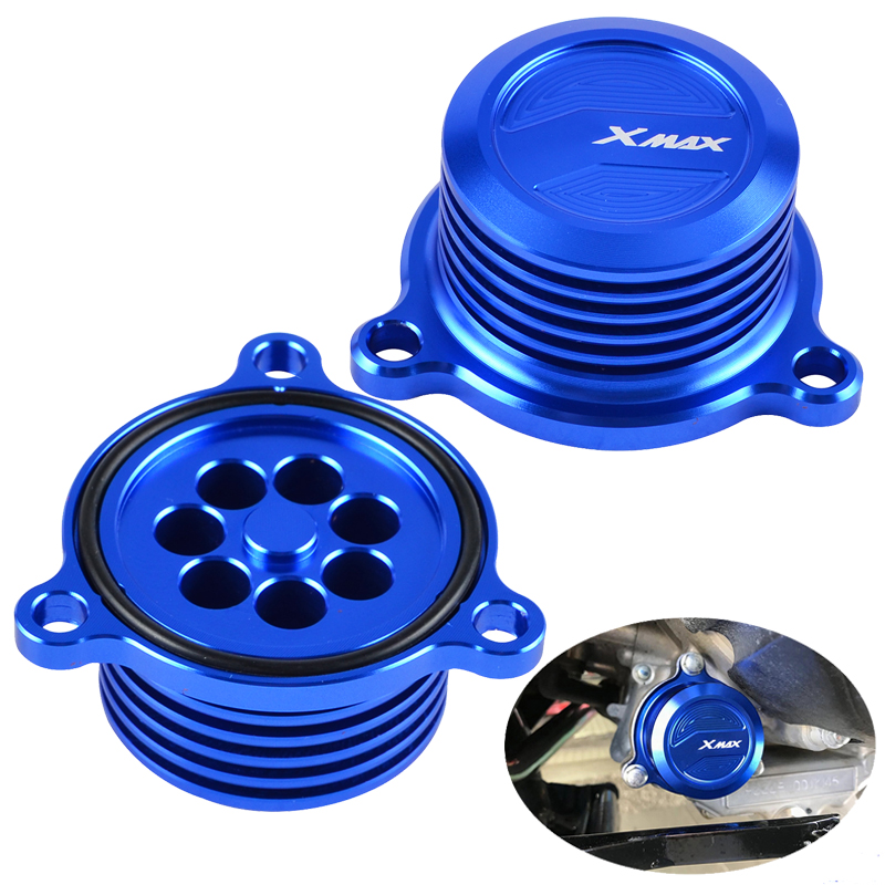 NICECNC Oil Filter Cap Cover For Yamaha X-MAX XMAX 125 250 300 400 2017-2018 Engine Fuel Filter Radiator Cap Cover Plug X MAX