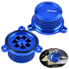 NICECNC Oil Filter Cap Cover For Yamaha X-MAX XMAX 125 250 300 400 2017-2018 Engine Fuel Filter Radiator Cap Cover Plug X MAX taishan ts250 254 300 304 tractor parts set of fuel and oil filter for engine fd295t or fd2100t