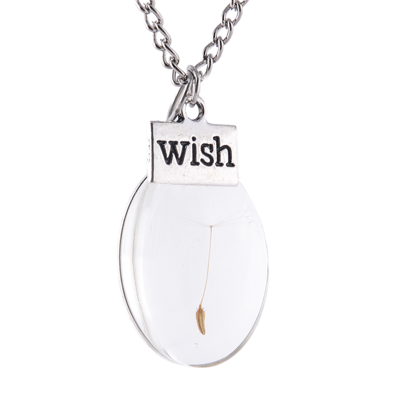 Stunning gorgeous egg shape wish Vial Necklace
