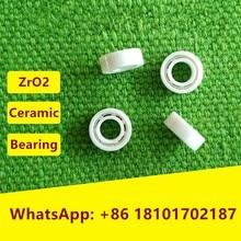 5pcs MR104 ZrO2 full Ceramic ball bearing 4x10x4 mm Miniature Zirconia ceramic deep groove ball bearings 4*10*4  fishing reel