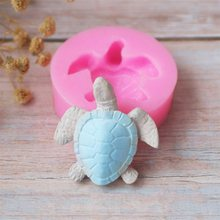 Silicone Fondant Mold Cute lovely Sea Turtle Shape Ocean Theme Fondant Cake Decoration Gum Paste Chocolate Mould Small Size
