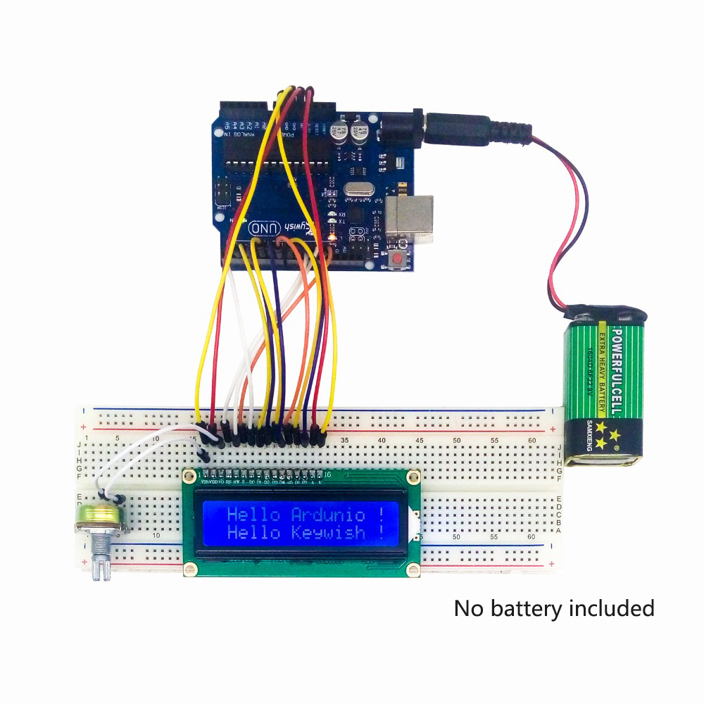 Keywish Plus Complète RFID Capteur Starter Kit Pour Arduino UNO R3 Starter Kit D'eau-niveau Capteur Servo/DC/Moteur pas à pas RGB LED - 4