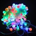 100 UNIDS 10 M Colorido RGB Bola Redonda LED de Hadas Cadena Fiesta de Navidad LLEVÓ la Bola Del Partido Del Centelleo Del Árbol de Luz