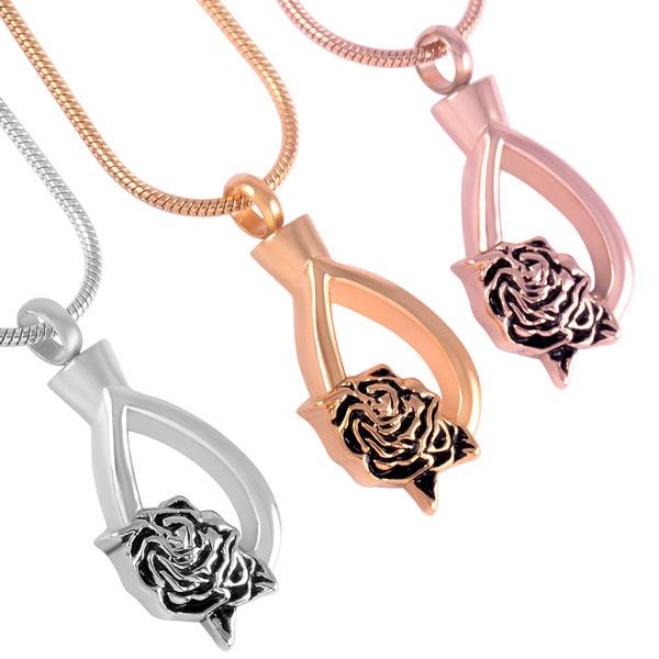 Rose Drop Memorial Necklace