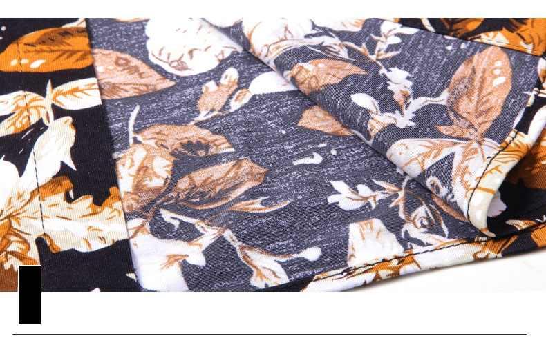 2018 Новый Для мужчин короткий рукав павлин с принтом рубашка Для мужчин летние Рубашки для мальчиков повседневная одежда мужской тонкий хлопок Ткань