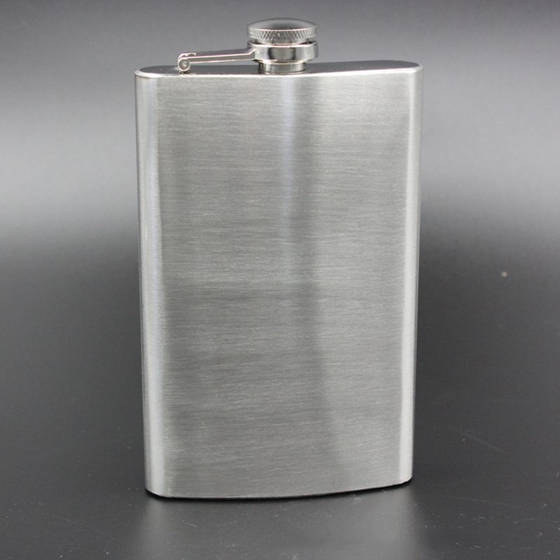 10oz Wine Hip Flask Stainless Steel Whisky Bottle Travel Silver Alcohol Whiskies Pocket Flasks For Bridesmaid Gift And Camping
