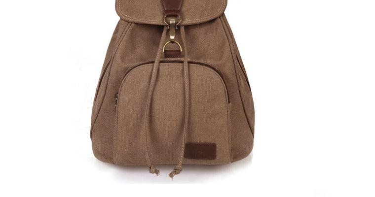 Woman canvas backpacks female vintage bag fashion backpacks for teenage girls retro College student school bags fabric knapsack