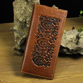 Fashion Mens Brand Wallet,Genuine Leather  long design wallet men multi-card  high-quality purse emboss freeshipping