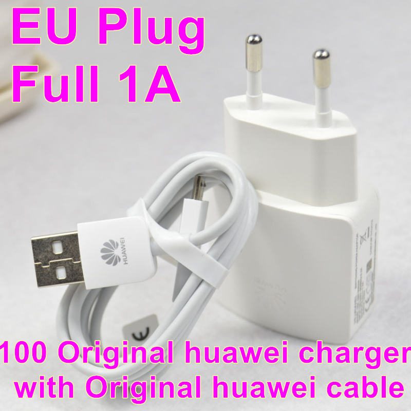 100% Original 5V1A USB Quick Travel Charger Adapter + original cable Huawei P7 P6 G610 C8813q C8815 C8816 Honor 6 3C 3X - RVISON Electronics Co., Ltd. store