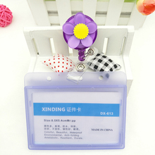 1Pcs Lovely Cartoon Retractable Badge Reel High quality Student Nurse Exihibiton ID Name Card Holder Office Supplies