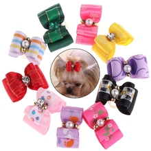 10 Pcs Pet Hair Clip Bow Knot Grooming Headdress Dog Cat Decoration Accessories