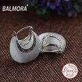 100% real pure 925 joyas de plata clásico y elegante opal stud pendientes para la mujer amante regalos de la fiesta Bijoux MYS30235
