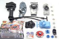 Beyblade Wing Pegasis Pegasus BB 121A Of Ultimate DX Set 4Pcs Different Launcher 1 Hand 1