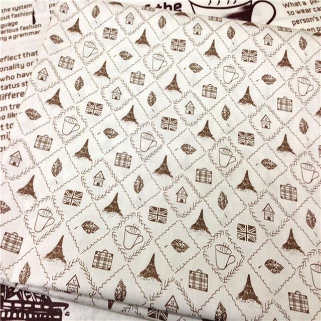 50x160 Cm Vintage Marke Englisch Brief Zeitung Square Muster