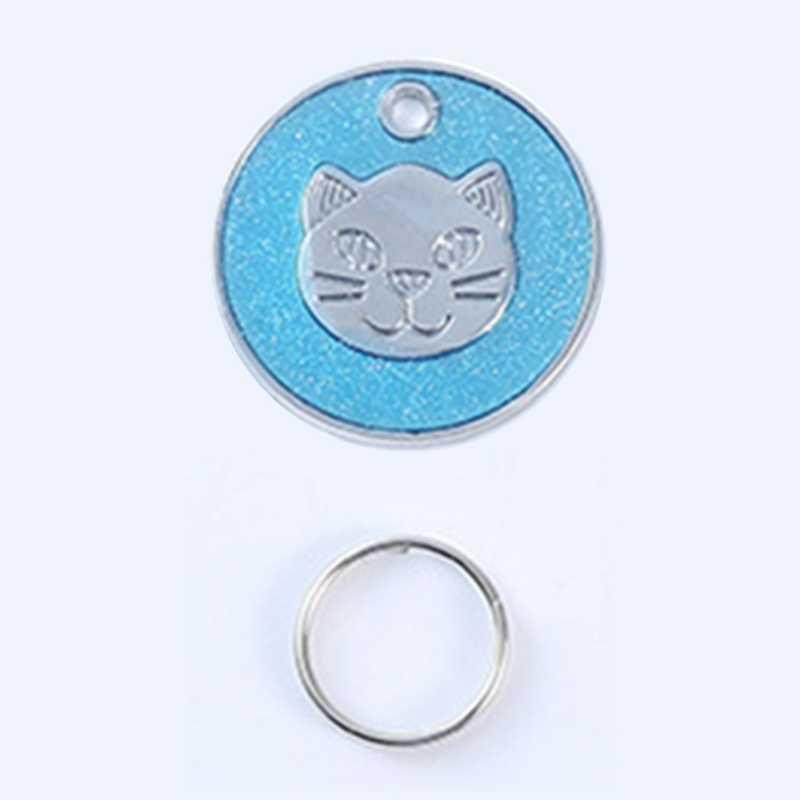 1 комплект ярлык для удостоверения личности собаки кошки персональная форма лица кота печать имя питомца пластина имя щенка собаки номер телефона