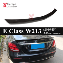 For Mercedes E Class W213 Spoiler 4-Door Sedan V Style Carbon Tail Wing Spoilers 2017+