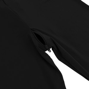 Image 5 - สตรีเซ็กซี่ Bodystocking ชุดชั้นในแขนยาวเรียบเส้นใยคู่ซิป SHEER เรียบดูผ่านเปิด Crotch Bodysuit Jumpsuit