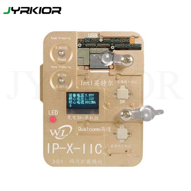 US $88 0 |Jyrkior WL Programmer Intel Qualcomm Baseband Logic EEPROM IC  Module Read Write IMEI Tool For iPhone 6/6s/7/8/8P/X XS XS MAX XR -in Hand