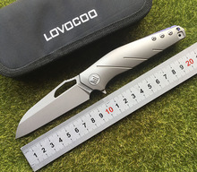 LOVOCOO Apologist Flipper Folding knife MRBS S35VN blade Titanium handle hunting outdoor camping survival fruit Knives EDC tools lovocoo tactical ii fixed cpm s35vn blade knife outdoor knives hunting straight knife kydex sheath camping survival edc tools