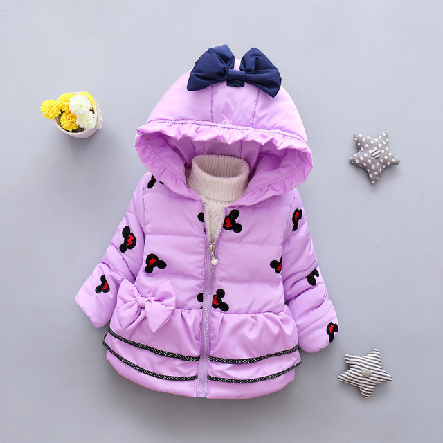 LZH Baby Girls Jacket 2017 Autumn Winter Jacker For Girls Winter Coat Kids Warm Hooded Children Outerwear Coat For Girls Clothes