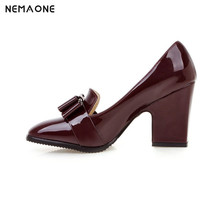 NEMAONE Big size 34-43 Sexy women shoes euro style platforms Square high heels pumps  fashion motorcycle martin shoes