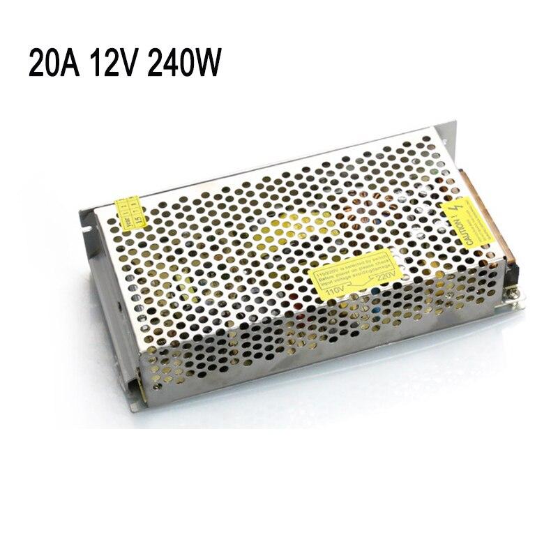 12V 20A 180W Switch Power Supply Driver For LED Light Strip adapter 3D Printer Reprap Mendel Prusa 3d printer parts accessories запчасти для принтера xy 12v40w reprap 12v 40w cnc 3d prusa 3d printer prusa mendel
