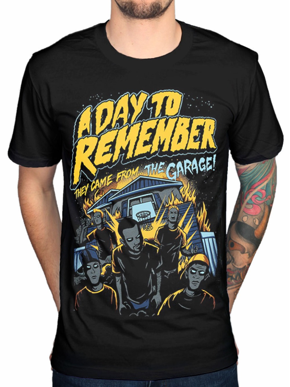 cd71b6101d5 New Arrival Male Tees Casual Boy T Shirt Tops DiscountsO-Neck A Day To  Remember