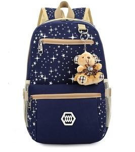 Image 2 - 3 adet/takım kadın sırt çantası okul çantaları yıldız baskı sevimli sırt çantaları ayı ile gençler kızlar için seyahat çantası sırt çantaları Mochila