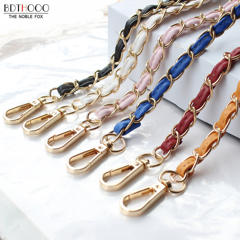 120cm DIY Metal Chain For Bag Strap Accessories For Bag Detachable Shoulder Bag Belt Leather Strap Handbag Metal Chain Bands