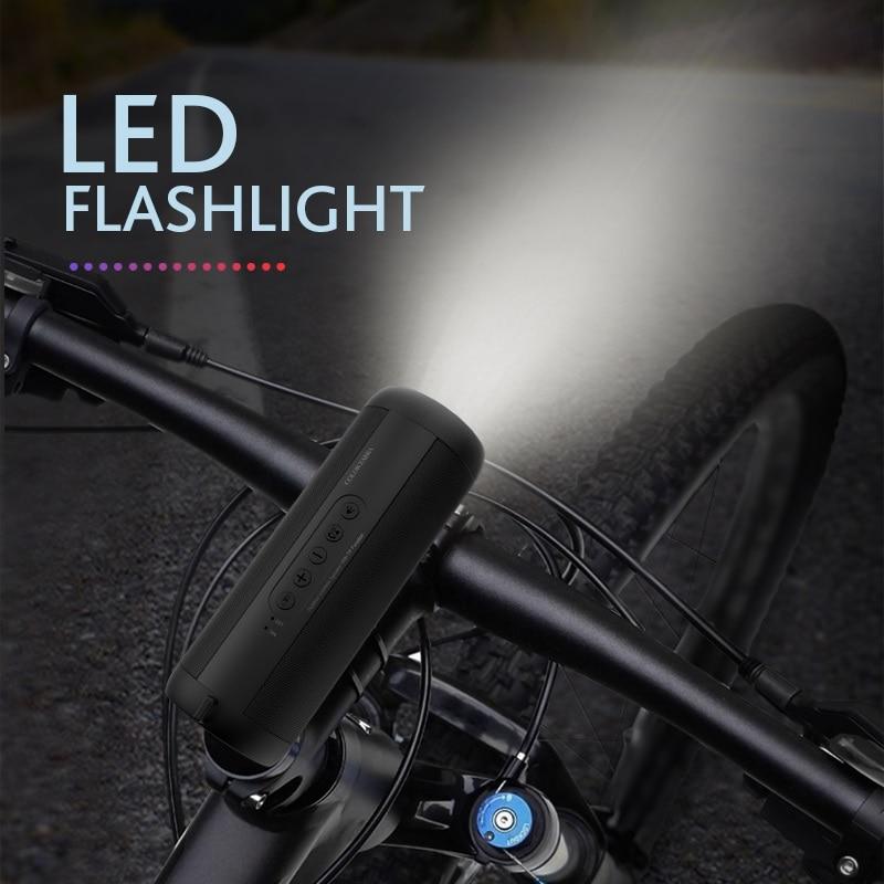 T2 Bluetooth Muziek Bass Speaker Waterdichte Draagbare Outdoor Led Draadloze Kolom Luidspreker Ondersteuning Tf Card Fm Radio Aux Input 4