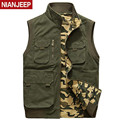 NIAN AFS JEEP Double Side Man's Cotton Autumn/Spring Vest,camouflage Casual Stand Collar Man Cotton Sleeveless Cardigan Outwears
