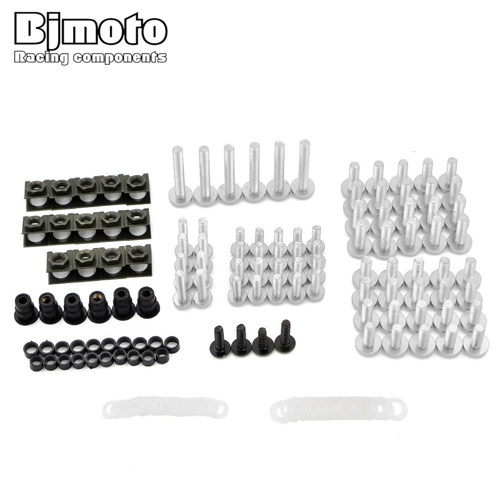 Screws-2007-SV Fairing Bolts Kit Fastener Clips Screw Aluminium Sportbike Aftermarket For BMW Aprilia RS 125 250 RSV Mille R