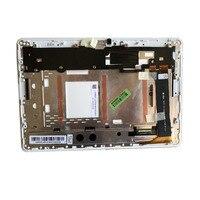 Para Asus ME102A K00F MCF-101-0990-01-FPC-V4.0 V3.0 V2.0 LED LCD ASAMBLEA DE PANTALLA TÁCTIL digitalizador con marco blanco
