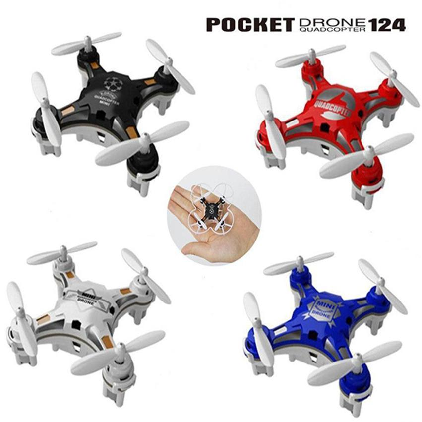 CHAMSGEND FQ777-124 Micro Poche Drone 4CH 6 Axe Gyro Commutable Contrôleur hélicoptère pour enfants et adultes Quadcopter 6.27
