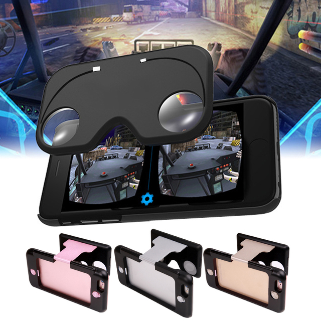 Cool 3D Headset VR Glasses Case for iPhone6/6s,Folding Vr Headset pocket 3D Virtual Reality Glasses Case & stand for Smartphones