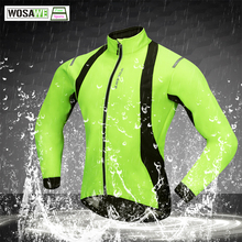 WOSAWE Autumn Winter Windbreaker Cycling Jacket Warmth Thermal Windproof Bicycle Rain Coat Waterproof Men Womens