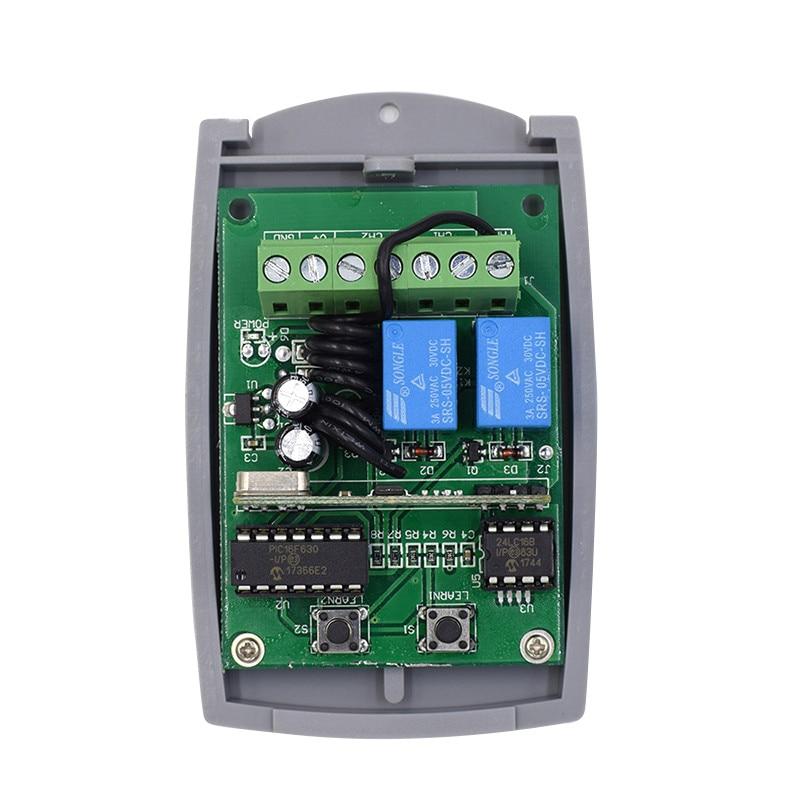 4 Channel Wireless Remote Control Receiver+Transmitter For Garage Door 433.92MHZ
