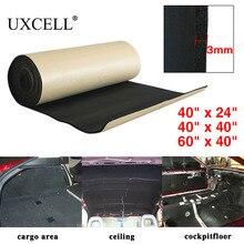 UXCELL 118mil 3mm Thick 60/100/152cm*100cm Car Soundproof Cotton Insulation Foam Sound Absorption Hood Roof Fender Deadener Mat