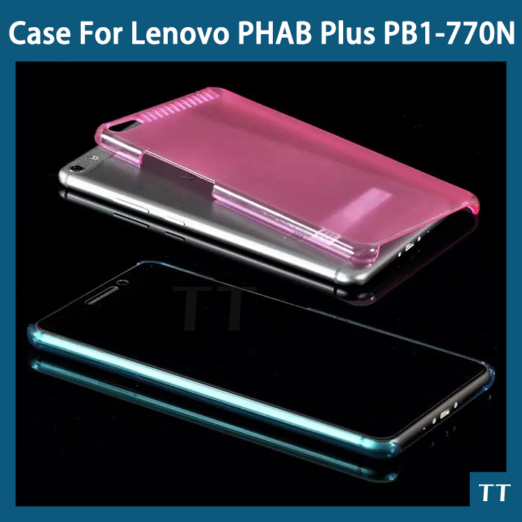 Ultra-thin PC Back case cover for Lenovo PHAB Plus PB1-770N Tablet 6.8 inch Case + free 3 gifrs