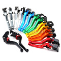 For KAWASAKI ZXR400 ZZR400 ZR-X400 GPZ750 ZR750 S Motorcycle CNC Billet Aluminum Short Brake Clutch Levers 3 Holes 8 Colors