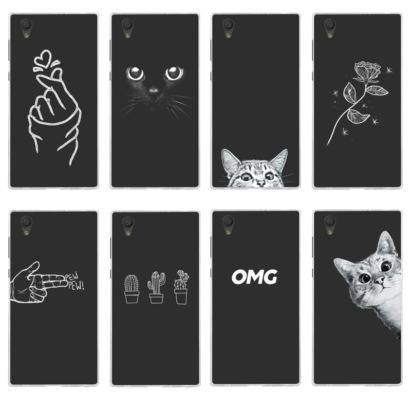 Weiche Silikon Für <font><b>Sony</b></font> Xperia <font><b>L1</b></font> Fall Abdeckung Malerei Phone <font><b>Cases</b></font> Muster Matte Blume Coque G3311 G3312 G3313 image