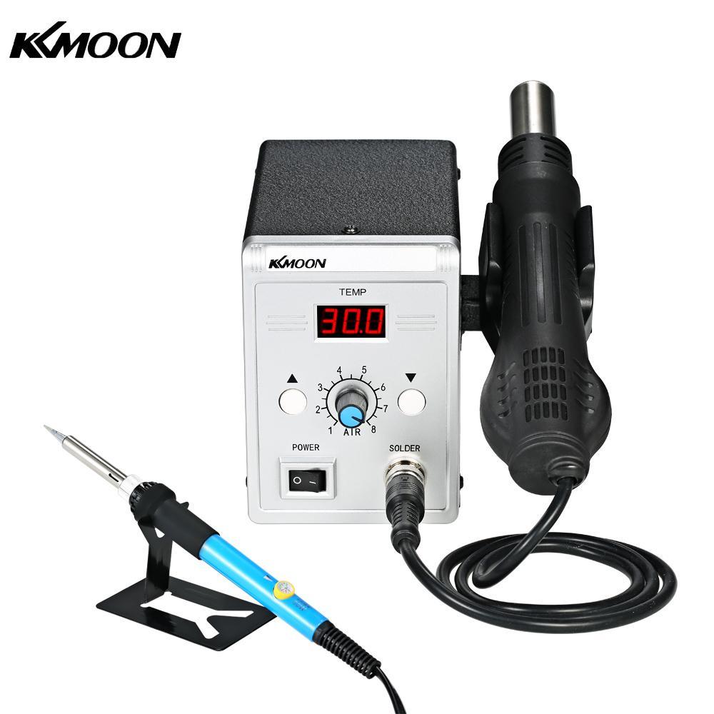 KKmoon 858D 700W Soldering Station LED Digital Solder Iron BGA Rework Solder Station Hot Air Gun Welding Tool Kit
