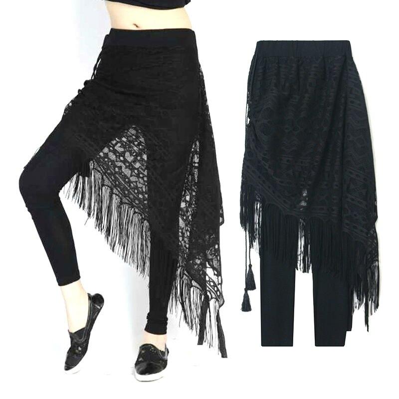 Proljeće 2016 Novi modni Patchwork čipke Osnovne žene suknja hlače Ženska odjeća Odjeća Nositi Punk Moda