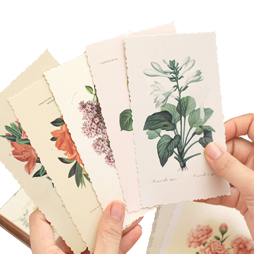 30pcs/pack Paper Postcard Flower Series Travel Gift Wish Card Busines Greeting Card Birthday Postcard Party Invitation Postcard