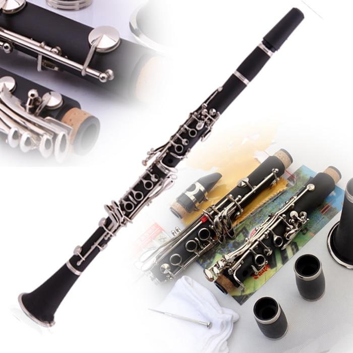 Bb Orchestre Clarinette Professionnel 17 Touches Conducteur Noir Clarinette Klarinette Avec Cas, Porte-Parole, Roseaux Instruments de Musique