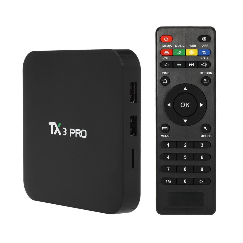 TX3 PRO TV BOX Android 7.1 TV Box Amlogic S905W Quad-core 1GB 8GB WiFi & LAN Smart Media Player TV Set-top Box PK X96 X96 MINI